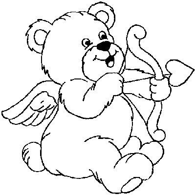 Disegno da colorare orsacchiotto per innamorati - Orsacchiotto da colorare in ...