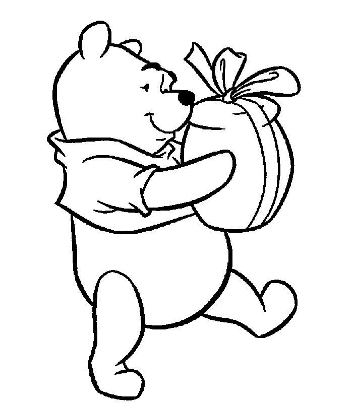 Disegno da colorare orsetto delice per amore for Disegni facili di natale