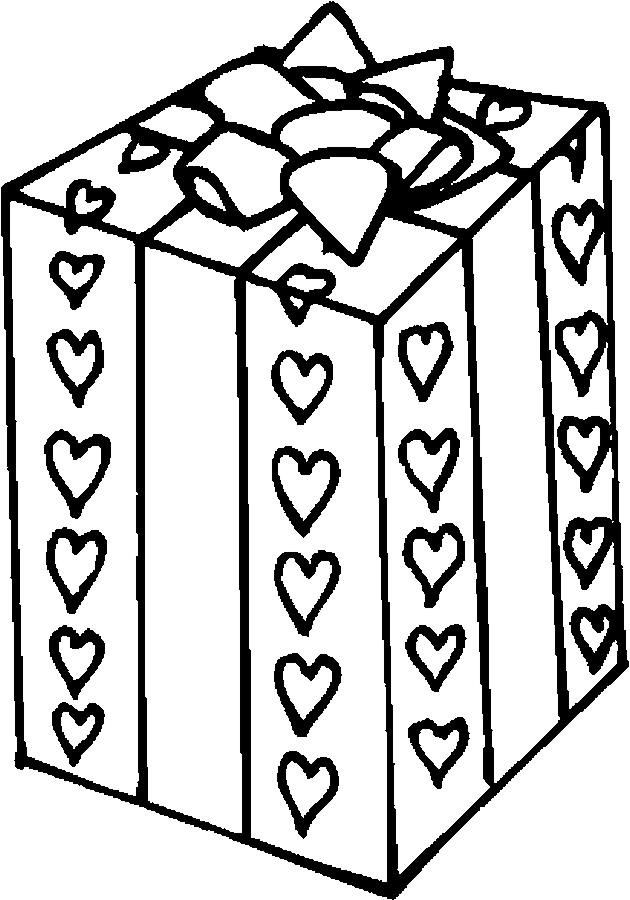 Disegno da colorare pacco regalo con tutto il mio affetto for Tutto in regalo